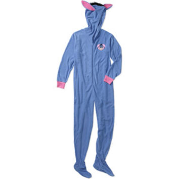 Walmart: Women's Eeyore 3D One-Piece Hooded Footie Pajamas
