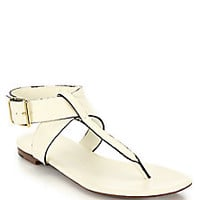 Burberry - Kington Flat Leather Thong Sandals - Saks Fifth Avenue Mobile