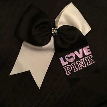 Victoria Secret PINK Hair Bow / Softball Bow / Cheer Bow / Volleyball Bow