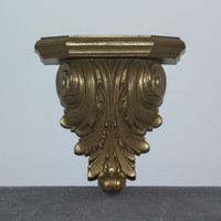 Ornate Gold French Provincial Wall Shelf Sconce - Wall decor, gold decor, ornate sconce, Hollywood Regency sconce, Burwood decor