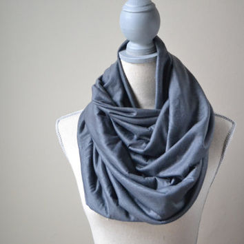 Gray Infinity Scarf - Ready to ship