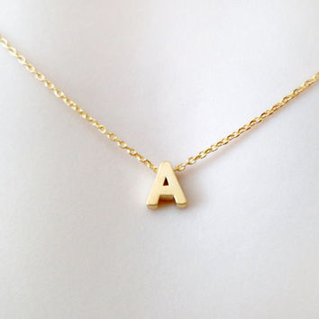 Upper, case, letter, initial, necklace, gold/ silver, letter, necklace, alphabet, necklace, letter, jewelry, personalized, friendship, love