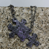 Puzzle Pieces Interlocking Necklace Set 2 Necklaces Mother and Daughter Set 20
