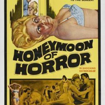 Honeymoon Of Horror movie poster Sign 8in x 12in