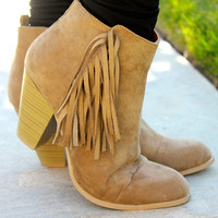 Fringe All The Way Booties