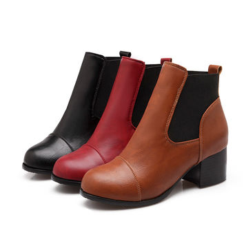 Pu Ankle Boots High Heels Women Shoes Fall|Winter 9457