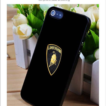 Lamborghini Logo iPhone for 4 5 5c 6 Plus Case, Samsung Galaxy for S3 S4 S5 Note 3 4 Case, iPod for 4 5 Case, HtC One for M7 M8 and Nexus Case