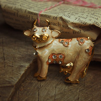 Farm Cow Brooch #5105