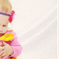 Easter / Passover pink baby girl headband photo prop by bonbonLand