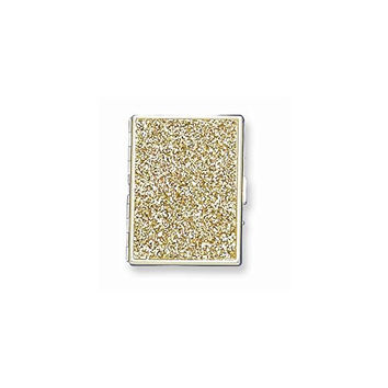 Brass-plated Glitter (Holds 9-100mm) Cigarette/Card Case