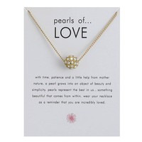 Gold Zricon Ball Card Alloy Clavicle Pendant Necklace   171212