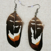 Tribal Reeves Pheasant Feather Earrings