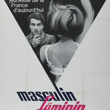 Masculine Feminine (French) 11x17 Movie Poster (1966)