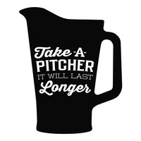 Take A Pitcher wall decal