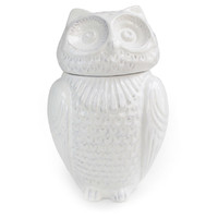 "Owl White Jar, 11"", Covered Serving Dishes & Tureens"