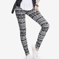 HIGH RISE TRIBAL PRINT SEXY STRETCH LEGGING