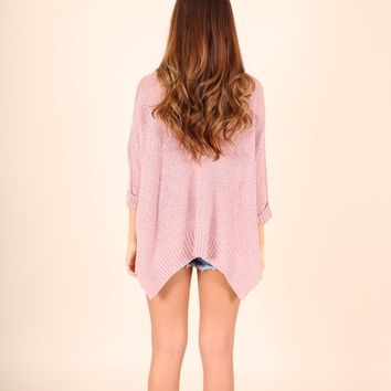 TICKET TO PARADISE SWEATER - MISTY PINK