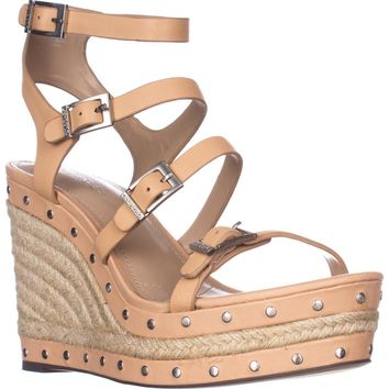 Charles by Charles David Larissa Wedge Sandals, Nude, 8.5 US