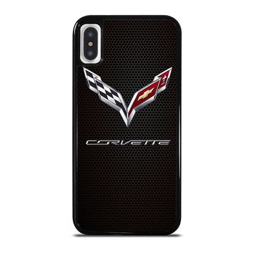 CORVETTE CHEVY ON HEXAGON CARBON iPhone X Case Cover