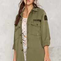 After Party Vintage Vanessa Distressed Army Jacket