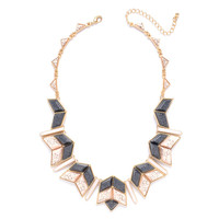 Marble Chevron Collar