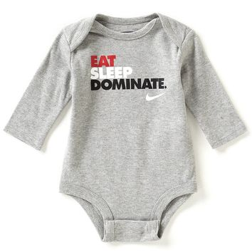 Nike Newborn-12 Months Eat Sleep Dominate Long-Sleeve Bodysuit | Dillards