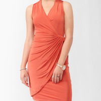 Twisted Surplice Dress | FOREVER21 - 2000037709