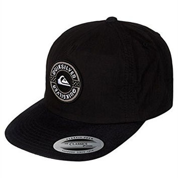Quiksilver Mens Plastic Flexfit Hat, Black, One Size