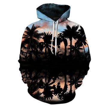 Palm Tree Pullover Hoodie