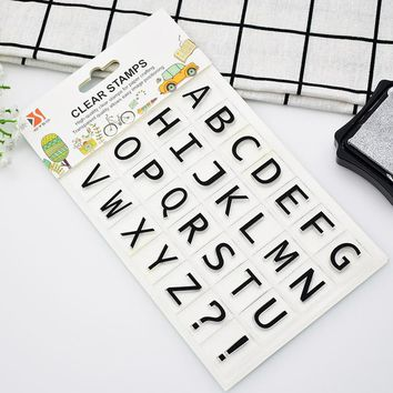 1 Sheet Alphabet Number Clear Stamps For Scrapbooking and Crafts Cute Letters Rubber Stamp Set Photo Album Free Shipping 68502