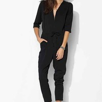 Just Female Anton Zip-Up Jumpsuit- Black