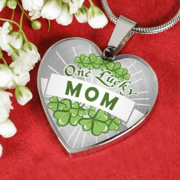 One Lucky Mom Luxury Adjustable Necklace or Bangle