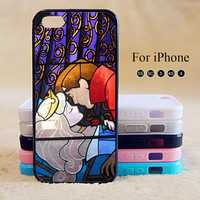 Beauty and the Beast,Love,iPhone 5 case,iPhone 5C Case,iPhone 5S Case, Phone case,iPhone 4 Case, iPhone 4S Case,Case-IP002Cal