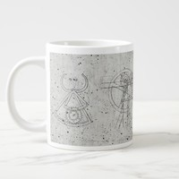 Industrial Engineering Concrete Large Coffee Mug