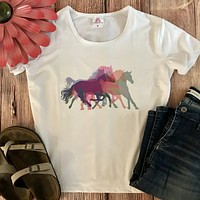 Colorful Wild Horse Tee
