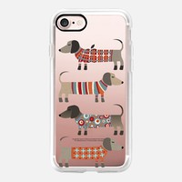 Casetify iPhone 7 Classic Grip Case - Sausage Dogs in Sweaters by nic squirrell #iPhone7