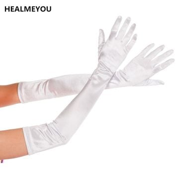 New Long Gloves Satin Opera   Evening Party Prom Costume Gloves
