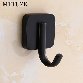 MTTUZK Black Square Robe hooks  Clothes hooks Kitchen hooks living room wall hanging door rear hook for cap,coat,Clothes gancho