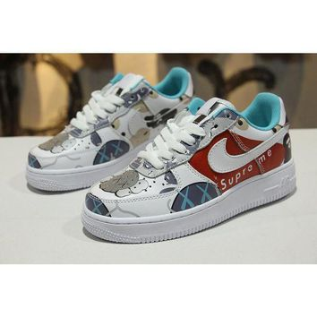 PEAPNW6 Supreme x Kaws x Bape x Nike Air Force 1 Low AF1 Customi 4192d3a95eb8