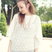 Ivory Lace Coverup for the beach Lace Summer by BglorifiedBoutique
