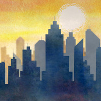 City Heat Wave Art Print by Tjc555