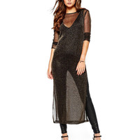 Sheer Overlay Maxi Dress