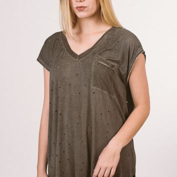 Lucky Find Tunic - Olive Brown
