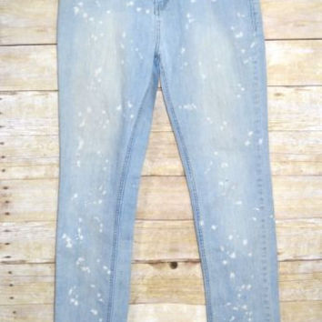 XXI Size 30 Jeans Bleach Splatter Light Wash