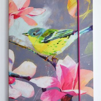 Carolyn Carter A5 Bird And Flower Print Journal - House of Fraser