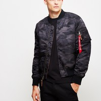 Alpha Industries MA-1 VF59 Bomber Jacket Black Camo