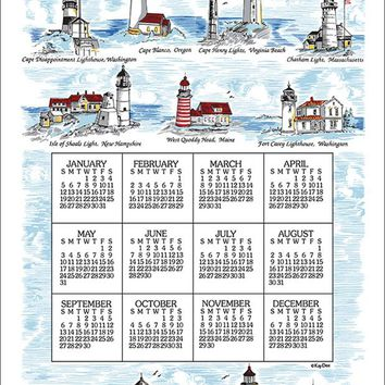 Calendar Towel 2020 - Lighthouses