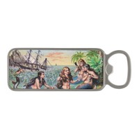 Mermaids and Ship Magnetic Bottle Opener