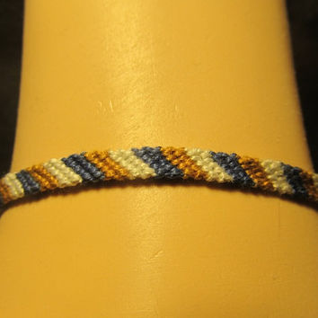 Ravenclaw Inspired Candy-Cane Friendship Bracelet