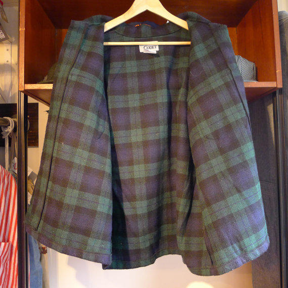 Vintage Codet Flannel In Green And Blue From Jointcustodydc On